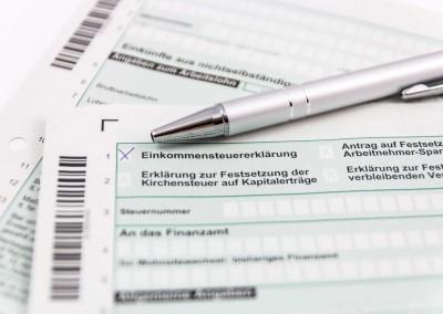 Steuerformulare der Einkommensteuererklärung vom Steuerberater